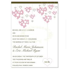 wedding announcements pink brown wedding announcement templates bloom do it