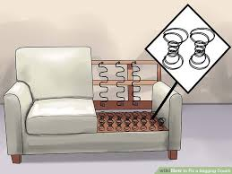 Repair Sofa Cushion Cover How To Fix A Sagging Couch 14 Steps With Pictures Wikihow