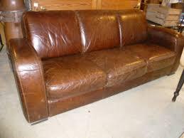 Vintage Leather Sofa Bed Antiques Atlas Retro Art Deco Style Leather Sofa