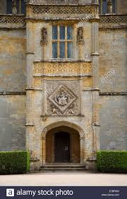 entrance porch and coat of arms at montacute house an elizabethan