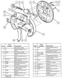 ford taurus gl i need an exploded view of the rear drum brakes