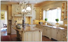 lovely distressed cream kitchen cabinets taste