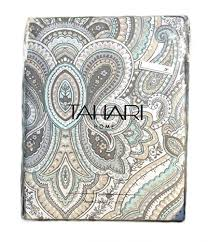 tahari fabric shower curtain paisley medallion mackenzie tan