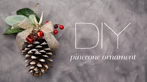 diy pinecone ornament youtube