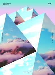 i like how the images of skies mountains and clouds has been used