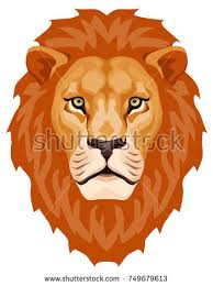 graphic illustration lion head mane stock vector 482241547
