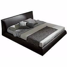 Leather Platform Bed Italian Leather Platform Bed Size Brown