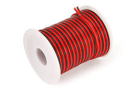 c able 50foot 18 gauge hookup electrical 2 red black wire led