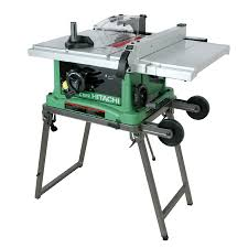 Contractor Table Saw Reviews Shop Hitachi 15 Amp 10 In Table Saw At Lowes Com