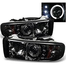 halo headlights for dodge ram 1500 amazon com spyder auto dodge ram 1500 2500 3500 black halogen led
