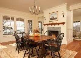 Bryant Small Chandelier Fireplaces In The Dining Room For Cozy And Warm Atmosphere