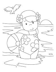 swimming clipart to color clipartxtras
