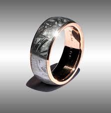 meteorite mens wedding band gold meteorite ring 068