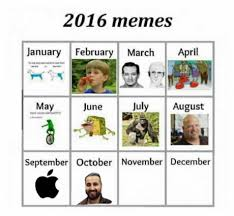 Meme Calendar 2016 - updated it sports food funny pics and movie tv