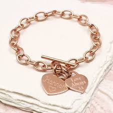 bracelet rose images Personalised rose or yellow gold charm chain bracelet by jpg