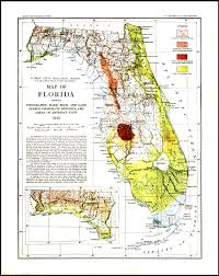 South Florida County Map by Geological Map Of Florida 1913