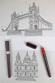 illustration jitesh patel hand drawn sketch tower bridge st pauls