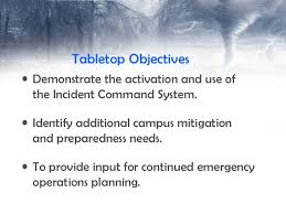 incident command table top exercises tornado table top exercise hits cus