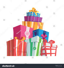mountain giftsvector set different gift boxesbeautiful stock