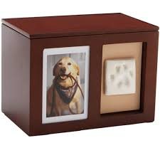 dog memorial dog urn pet memorial wooden pawprint memory box