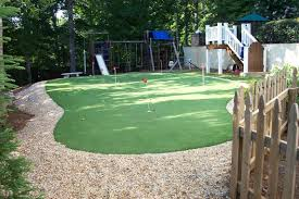 Backyard Golf Green by Backyard Putting Greens Neave Landscaping