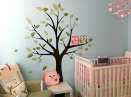 wall decor green blue jungle tree wall decals with elephant