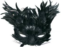 feather mask black feather creature eye mask