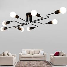 Large Semi Flush Ceiling Lights Hl420000 Industrial Vintage Styl Wrought Iron Large Semi Flush