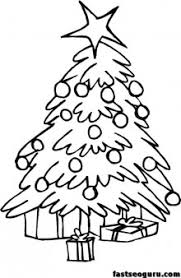 printable coloring pages christmas trees face printable