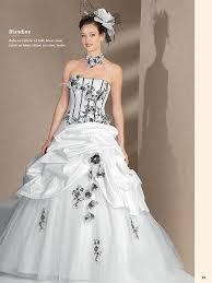 robe de mari e noir et blanc le de robe de mariée couture 2014 modèle blandine
