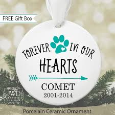 memorial ornament pet loss personalized ornament pet