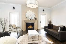 Throw Rug On Top Of Carpet 20 Living Rooms Adorned With Cowhide Rugs Home Design Lover