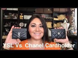 ysl business card holder laurent vs chanel cardholder comparison