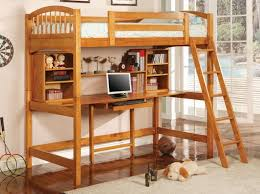 Pictures Of Bunk Beds With Desk Underneath Wood Bunk Bed With Desk Underneath Intended For Popular House