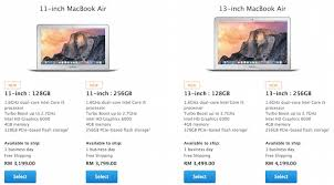 price of 2015 apple increases the price of its macbook air and macbook pro in