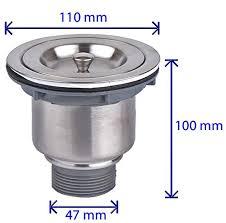 Fluxe  Inch Stainless Steel Deep Waste Basket Kitchen Sink - Kitchen sink waste strainer