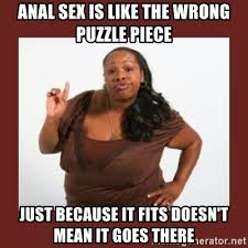 Anal Sex Meme - anal sex is like the wrong puzzle piece just because it fits doesn