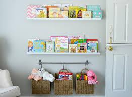 childrens wall mounted bookshelves clever nursery organization ideas project nursery