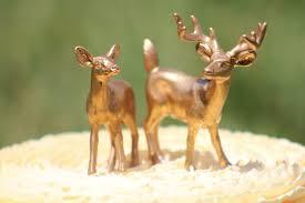 gold deer wedding cake topper mr u0026 mrs deer bride and