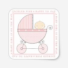 custom baby carriage baby shower sticker templates babyfavors4u