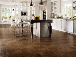 beautiful dark walnut color natural style vinyl kitchen floor come