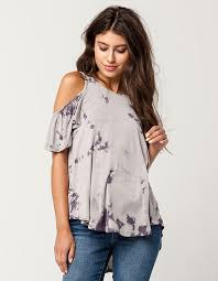 cold shoulder tops others follow tie dye womens cold shoulder top 311667568 knit