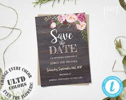 save the date templates rustic floral save the date template rustic save the date