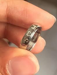 2 s ring name engraved platinum bands sj pto 228 jewelove