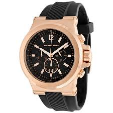 amazon black friday deals for perfume michael kor michael kors dylan chronograph black dial black rubber men u0027s watch