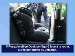 bébé confort opal siège auto installation route fançais