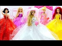 barbie mermaid ariel wedding dresse morning routine