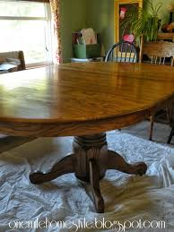 refinish oak kitchen table dining room table transformation