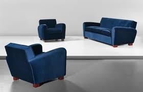 sofa and pair of armchairs by jean royère on artnet