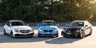 bmw m3 v lexus gs f v mercedes amg c63 s comparison photos 1 of 49